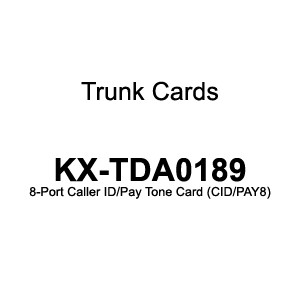 Cartela aditionala Panasonic KX-TDA0189 8 porturi CID PAY